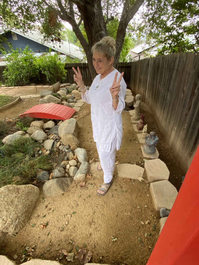 Lady Ashtar in her meditation garden